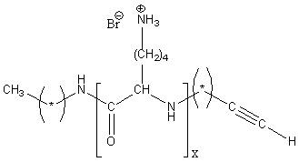 Alkynyl-poly(L-lysine hydrobromide) Structure