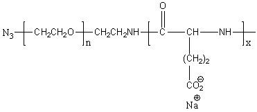 Azido-poly(ethylene glycol)-block-poly(L-glutamic acid sodium salt) Structure