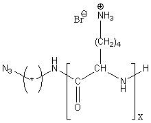 Azido-poly(L-lysine hydrobromide) Structure