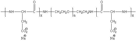 Poly(L-aspartic acid)-block-poly(ethylene glycol)-block-poly(L-aspartic acid) sodium salt Structure