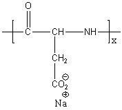 Poly(L-aspartic acid sodium salt) Structure