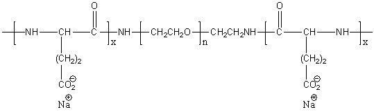 Poly(L-glutamic acid)-block-poly(ethylene glycol)-block-poly(L-glutamic acid) sodium salt Structure