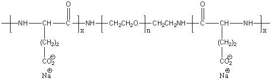 Poly(L-glutamic acid)-block-poly(ethylene glycol)-block-poly(L-glutamic acid) sodium salt Structure