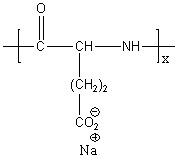 Poly(L-glutamic acid sodium salt) Structure
