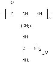 Poly(L-homoarginine hydrochloride) Structure
