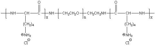 Poly(L-lysine)-block-poly(ethylene glycol)-block-poly(L-lysine) hydrochloride Structure