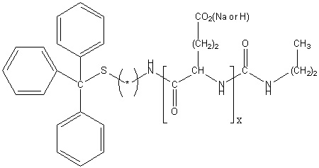 S-Trityl-poly(L-glutamic acid sodium salt) Structure