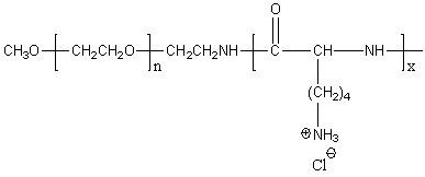 Methoxy-poly(ethylene glycol)-block-poly(D-lysine hydrochloride) Structure