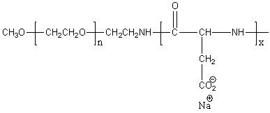 Methoxy-poly(ethylene glycol)-block-poly(L-aspartic acid sodium salt) Structure