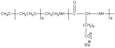 Methoxy-poly(ethylene glycol)-block-poly(L-glutamic acid sodium salt) Structure