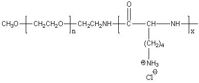 Methoxy-poly(ethylene glycol)-block-poly(D-lysine hydrochloride) Structure