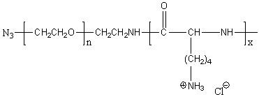 Azido-poly(ethylene glycol)-block-poly(L-lysine hydrochloride) Structure