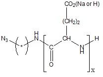 Azido-poly(L-glutamic acid sodium salt) Structure