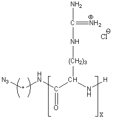 Azido-poly(L-arginine hydrochloride) Structure