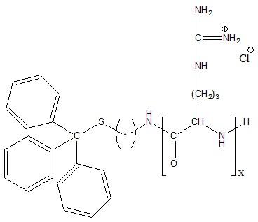 S-Trityl-poly(L-arginine hydrochloride) Structure